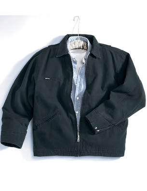 Tri-Mountain 4700 Cotton canvas work jacket with removable wool liner Black Black Brown 4XL